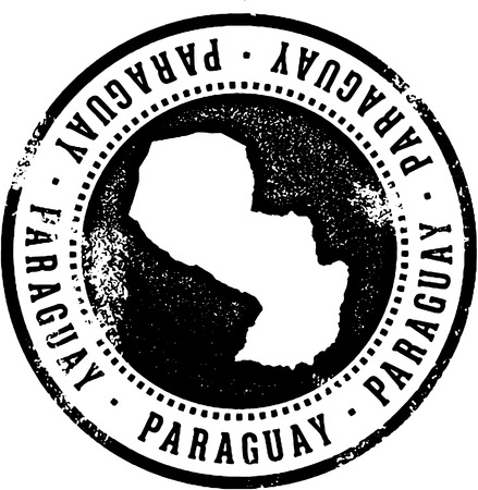 Paraguay Country Travel Stamp Illustration