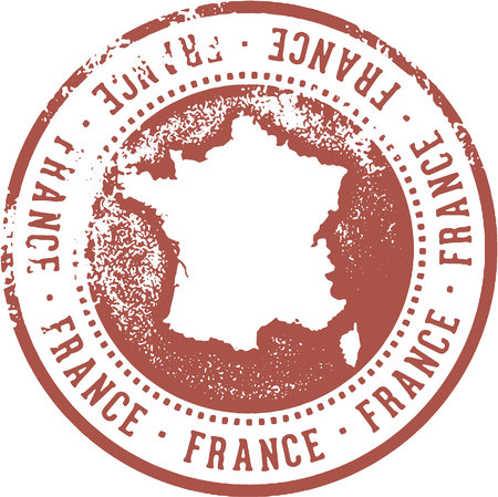 France Country Travel Stamp