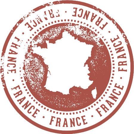 Timbre de voyage de France Banque d'images - 87736394