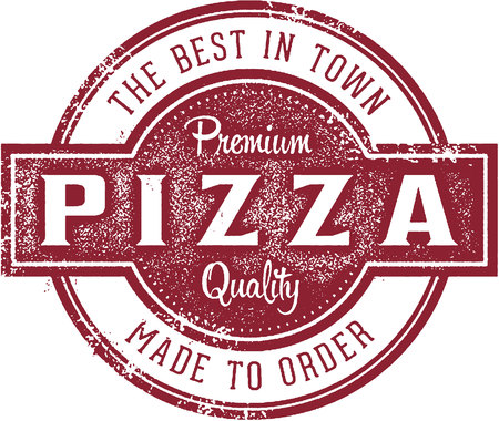Best pizza in town menu stamp.