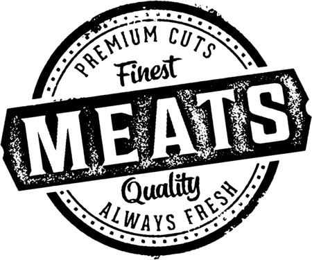 Premium Meats Butcher Shop Sign.