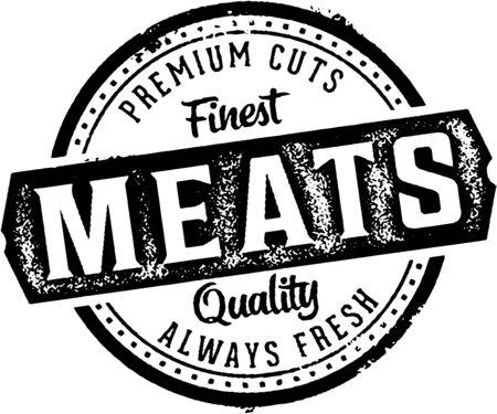 Premium Meats Butcher Shop Sign.