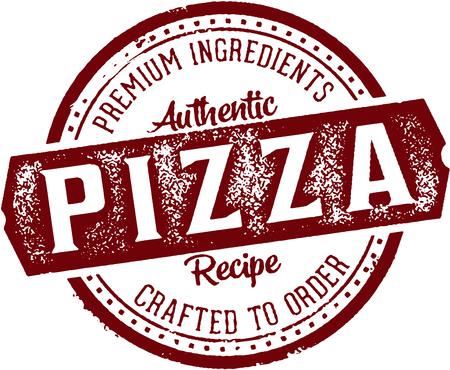Premium Pizza Vintage Restaurant Stamp.