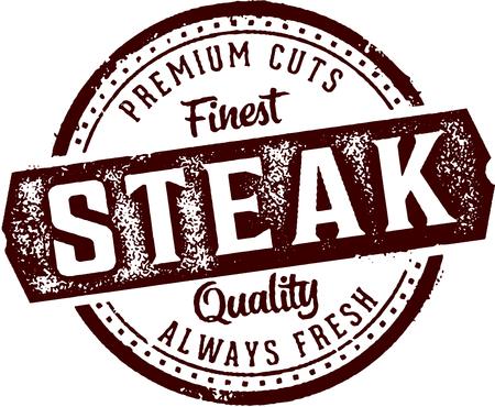 Premium Steak Vintage Restaurant Stamp
