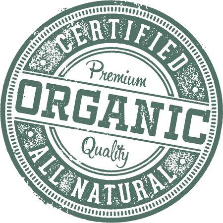 Certified Organic Rubber Stamp. Çizim