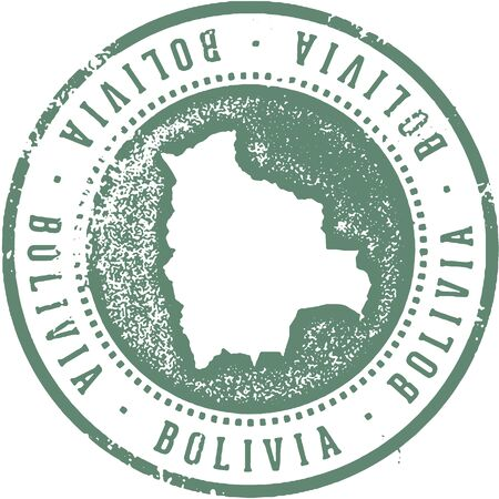 Bolivia South American Country Travel Stamp