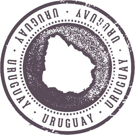 Uruguay South American Country Travel Stamp