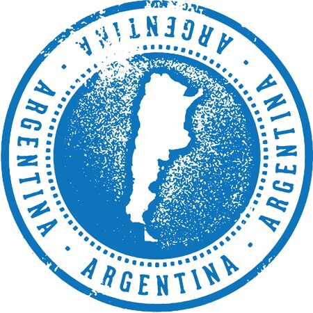 Argentina South American Country Travel Stamp Illustration