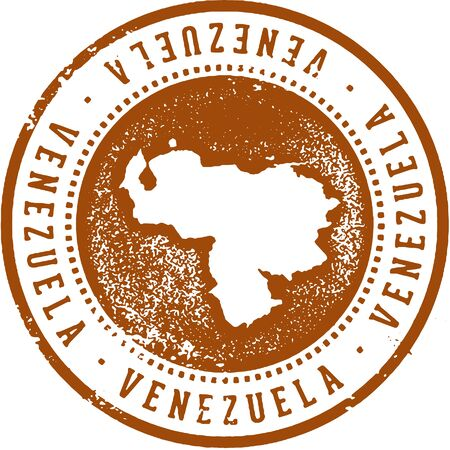 Venezuela South American Country Travel Stamp Illustration
