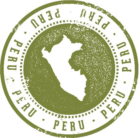 Peru South American Country Travel Stamp