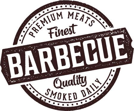 Premium Barbecue Meats Vintage Sign Illustration