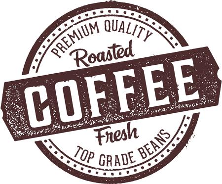 Fresh Roasted Coffee Diner Stamp Ilustração