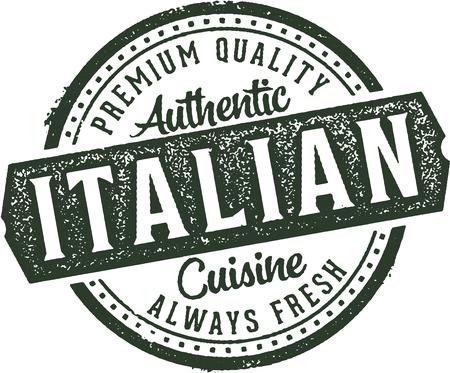 Authentic Italian Cuisine Restaurant Stamp Ilustração
