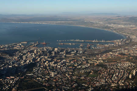 The city of Cape Town in South Africa seen from Tablemountain. photo
