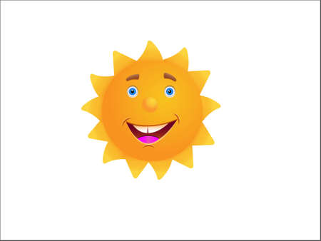 hot lips: illustration of the sun with a happy face.