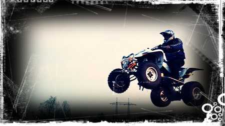 quad: Motor sport background - Quad