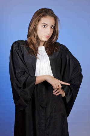 enforcing the law: Young law school student enforcing law Stock Photo