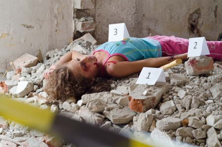 Abandoned body found in a building in construction photo