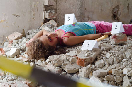 Abandoned body found in a building in construction Stock Photo - 15783089