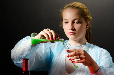 Biochemist experimenting in the laboratory Stock Photo - 16829442