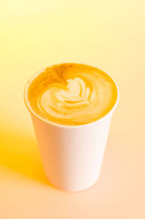 takeout: Take-out cappuccino in cardboard cup