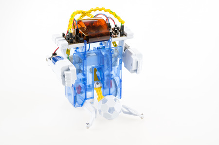 Robot created from electronic pieces