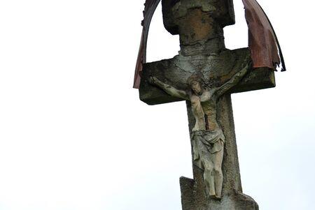 늙은 묘지 십자가