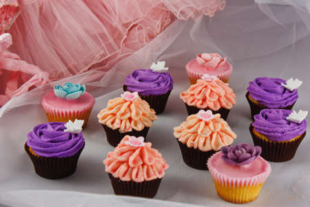 Colourful collection of cupcakes Stock Photo - 13643224