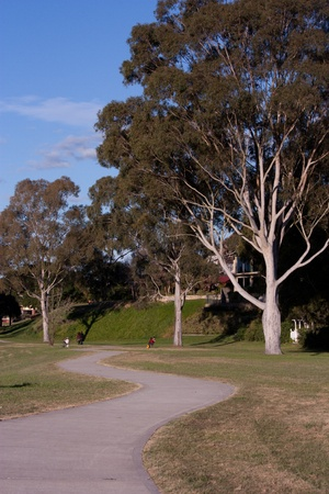 Winding path through parklands Stock Photo - 13949367