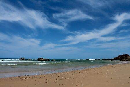 Beach landscape at Port Macquarie Australia Stock Photo