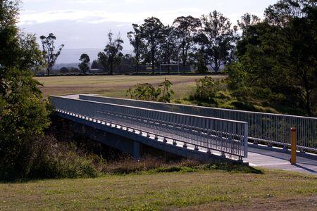 Steel and concrete pedestrian walkway bridge Stock Photo - 16544917
