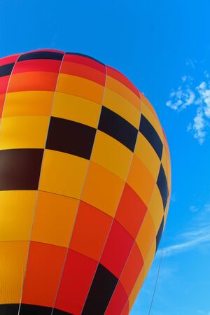 Hot Air Balloon against blue sky Stock Photo - 17747632