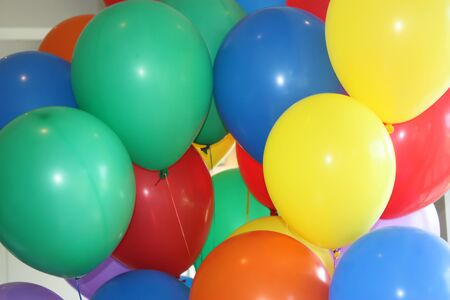 Colourful helium balloons Stock Photo - 17901976
