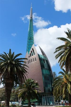 Swan bell tower in Perth, Western Australia Фото со стока