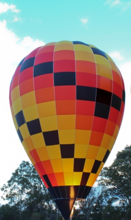 Hot air balloon with flame Stock Photo - 23836311