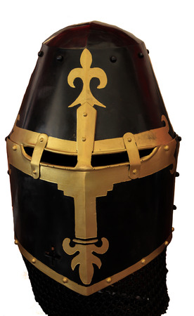 Historical knights helmet armour isolated