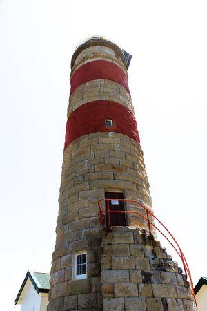 Sandstone lighthouse on Moreton Island Queensland Australia