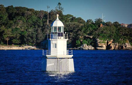 Lighthouse buoy Sydney Harbour Australia Stock Photo