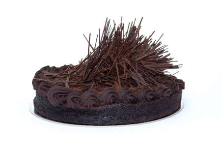 Gluten free celebration chocolate cake isolated on white background Stock Photo