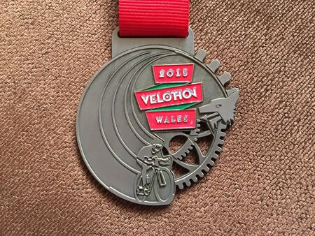 wales: Velothon Wales 2015 medal Stock Photo