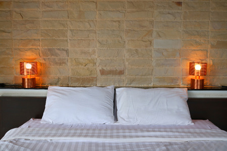 Modern design bedroom interior Stock Photo