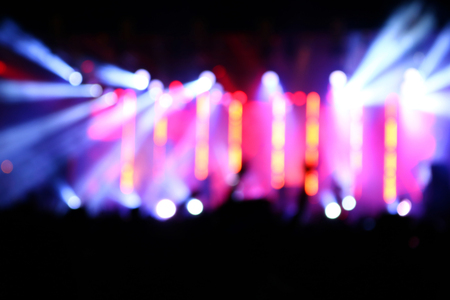 Blurred lighting background in concert Stock Photo