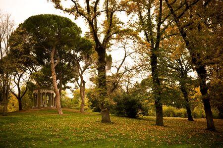bacchus: Garden El capricho (Madrid - Spain) - Temple of bacchus Stock Photo