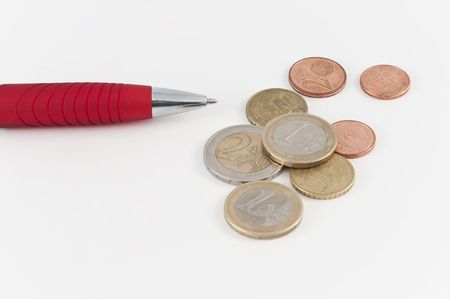 coppers: Pen and coins