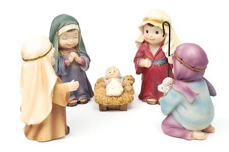 Bethlehem, adoration of the shepherds to Jesus photo