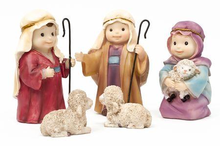 Bethlehem, shepherds and sheep Stock Photo - 8115066