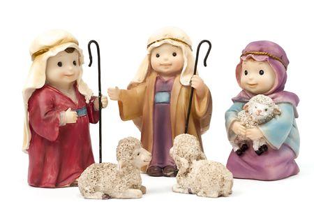 Bethlehem, shepherds and sheep photo
