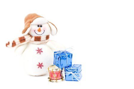 festividad: Snowman and Christmas gifts