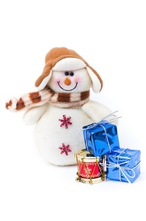 festividad: Snowman and gifts