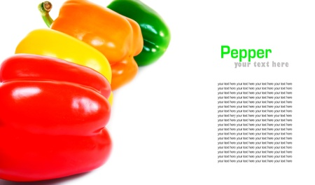 Multi-coloured pepper  A place for your text